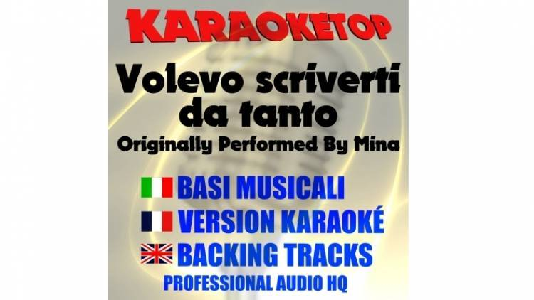 Volevo scriverti da tanto - Mina (karaoke, base musicale)