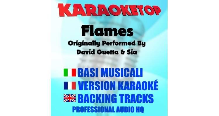 Flames - David Guetta & Sia (karaoke, base musicale)
