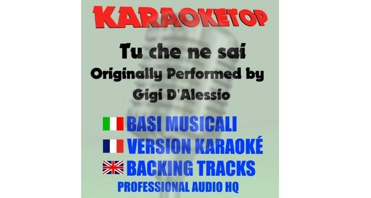 Tu che ne sai - Gigi D'Alessio (karaoke, base musicale)