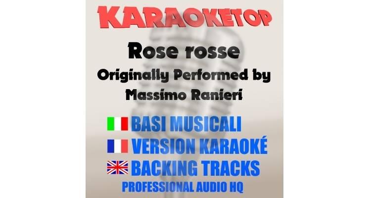 Massimo Ranieri - Rose rosse (karaoke, base musicale)