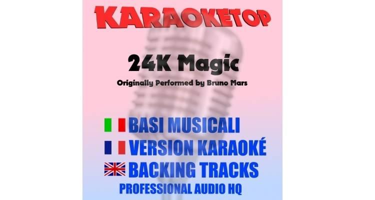 24K Magic - Bruno Mars - 24K Magic (karaoke, base musicale)