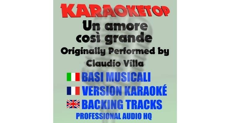 Un amore così grande - Claudio Villa (karaoke, base musicale)