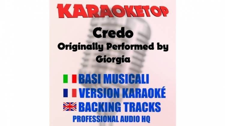 Credo - Giorgia (karaoke, base musicale)