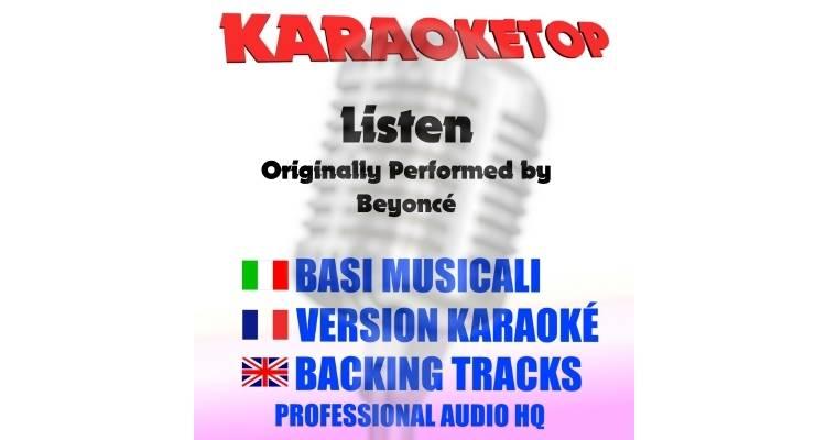 Listen - Beyoncé (karaoke, base musicale)