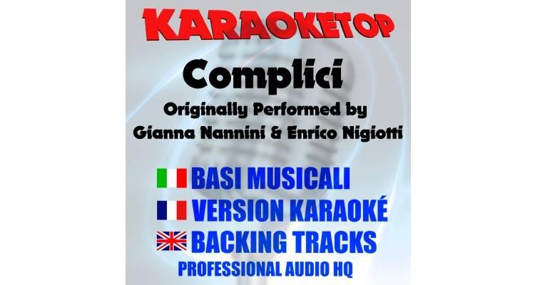 Complici - Gianna Nannini ft. Enrico Nigiotti (karaoke, base musicale)