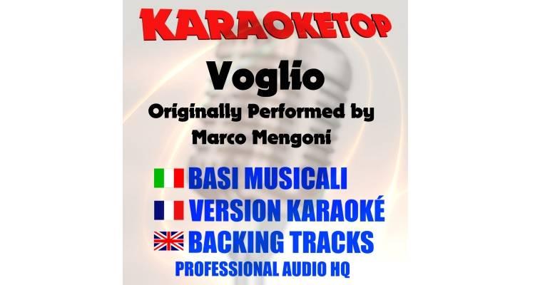 Voglio - Marco Mengoni (karaoke, base musicale)