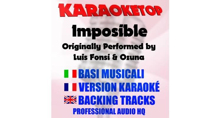Imposible - Luis Fonsi ft. Ozuna (karaoke, base musicale)