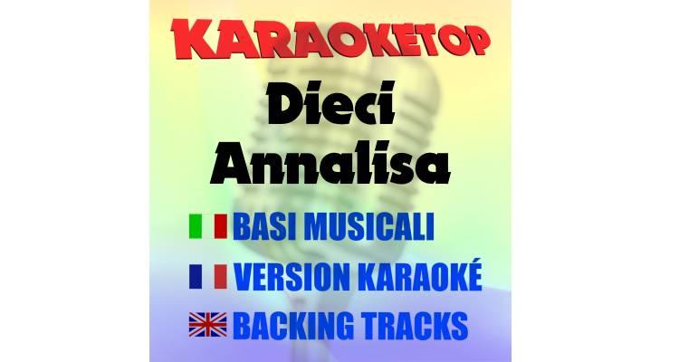 Dieci - Annalisa (karaoke, base musicale)