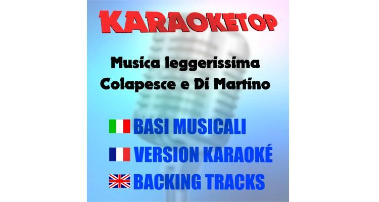 Musica leggerissima - Colapesce e Di Martino (karaoke, base musicale)