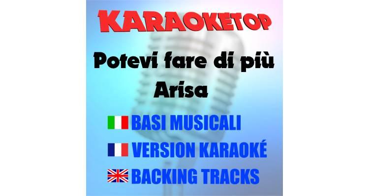 Potevi fare di più - Arisa (karaoke, base musicale)