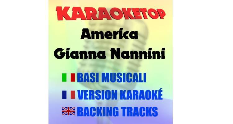 America - Gianna Nannini (karaoke, base musicale)